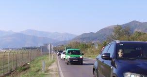Route entre Budva et Tivat banque de vidéos