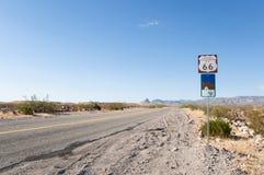 Route 66, estrada da mãe, Califórnia, o Arizona, EUA Fotografia de Stock