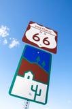 Route 66, estrada da mãe, Califórnia, o Arizona, EUA Fotos de Stock Royalty Free