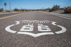 Route 66, estrada da mãe, Califórnia, o Arizona, EUA Imagem de Stock