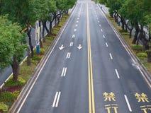 Route et arbres Image libre de droits