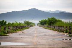 Route et herbe Photo libre de droits