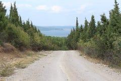 Route et mer Photo stock