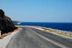 Route et mer Images libres de droits