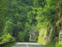 Route et nature de l'Aveyron Photos stock