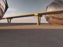 Route et route de pont illustration libre de droits