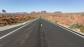 Route etats unis vers monument valley Royalty Free Stock Photo