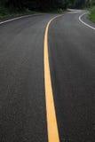 Route excessive de courbe image stock