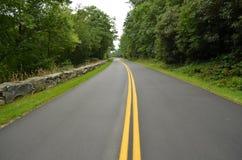 Route express bleue de Ridge photo libre de droits