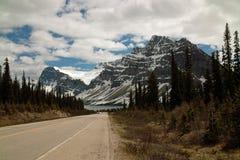 Route express de champs de glace, Alberta, Canada. Photographie stock