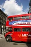 route för busslondon förlage Arkivbilder