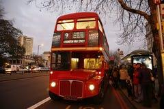 route för busslondon förlage Arkivbild