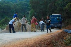 Route, faisant la route Photos libres de droits