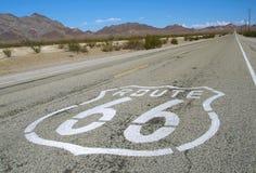 Route 66 famoso Imagen de archivo libre de regalías
