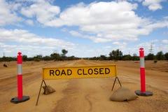 Route fermée Photo libre de droits