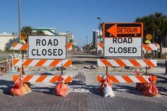 Route fermée photos libres de droits