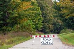 Route fermée Photographie stock libre de droits