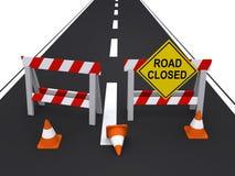 Route fermée illustration libre de droits