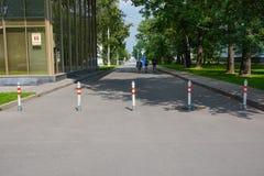 Route fermée photographie stock