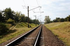 Route ferroviaire Photo stock