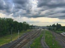 Route ferroviaire Photos stock