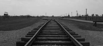 Route ferroviaire dans Birkenau Photo libre de droits