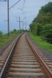 Route ferroviaire, dans une côte tropicale photos libres de droits