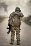 Route fixée par les forces spéciales photos libres de droits