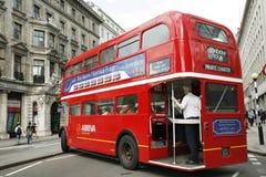 route för busslondon förlage Royaltyfria Foton