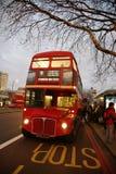 route för busslondon förlage Royaltyfri Bild
