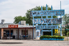 Route 66, Frontier Motel in Truxton, Arizona, USA royalty free stock images