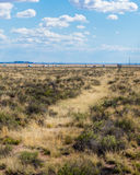 Route 66: Gamla Route 66, målad öken, AZ Royaltyfria Foton