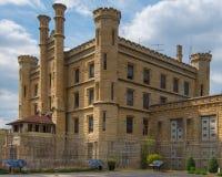 Route 66: Gammalt Joliet fängelse, Joliet, IL Arkivbild