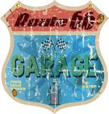 Route 66 -garageteken stock illustratie