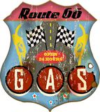 Route 66 -gas royalty-vrije illustratie
