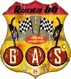 Route 66 gas Stock Image