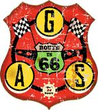route 66 gas station sign Stock Image