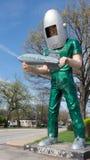 Route 66: Gemini Giant Sculpture Wilmington, IL arkivbilder