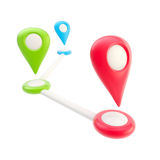 Route and geo tagging concept Royalty Free Stock Photo