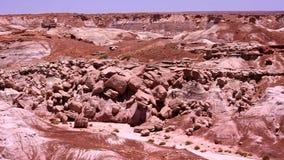 Route 66 Geschilderde Woestijnpan stock footage