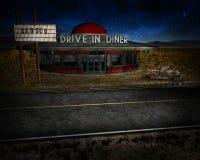 Route 66 Gesloten Bedrijfsillustratie Royalty-vrije Stock Foto's