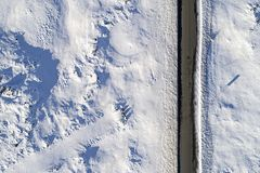 Route glaciale aérienne Images libres de droits