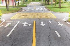 Route goudronnée Photos stock