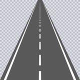 Route goudronnée droite avec les taches blanches omnibus Vecteur illustration de vecteur