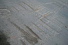 Route goudronnée endommagée par abstrait, matériau altéré, Photo stock