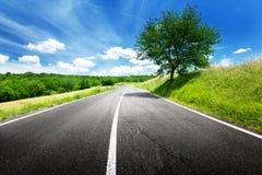 Route goudronnée, Toscane, Italie Photographie stock