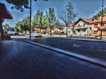 route, gracanica, Bosnie-Herzégovine, fédération, vue, rue principale, hdr images libres de droits