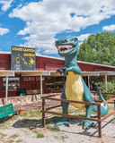 Route 66: Grand Canyon Caverns and Tyrannosaurus rex (t-rex) sta Royalty Free Stock Image