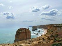 Route grande d'océan 12 apôtres Images libres de droits