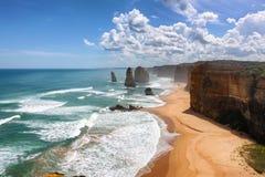 Route grande d'océan, Australie Images libres de droits